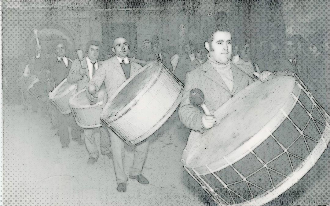 jorge-martin-tambor-de-honor-alcorisa-a-mediados-de-los-70